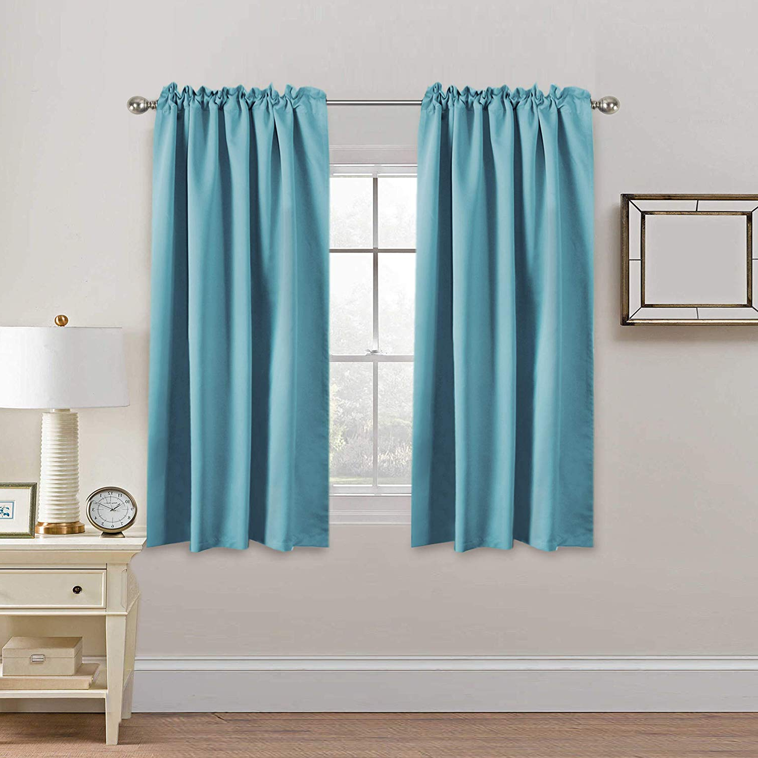 H.versailtex Extra Blackout Curtain Panels, Insulated Thermal Curtains For  Bedroom, 63 Inch Curtain Panels Pair – Back Tab/rod Pocket Drapes For Intended For Newest Solid Insulated Thermal Blackout Long Length Curtain Panel Pairs (Gallery 18 of 20)