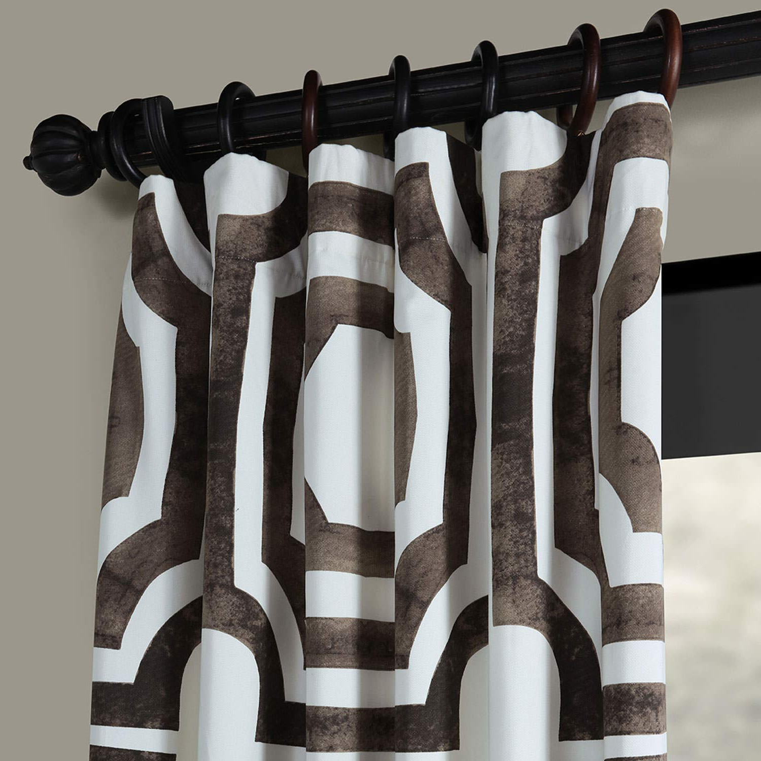Half Price Drapes Prtw D23 96 Mecca Printed Cotton Curtain, 50 X 96, Brown In Most Up To Date Mecca Printed Cotton Single Curtain Panels (View 5 of 21)