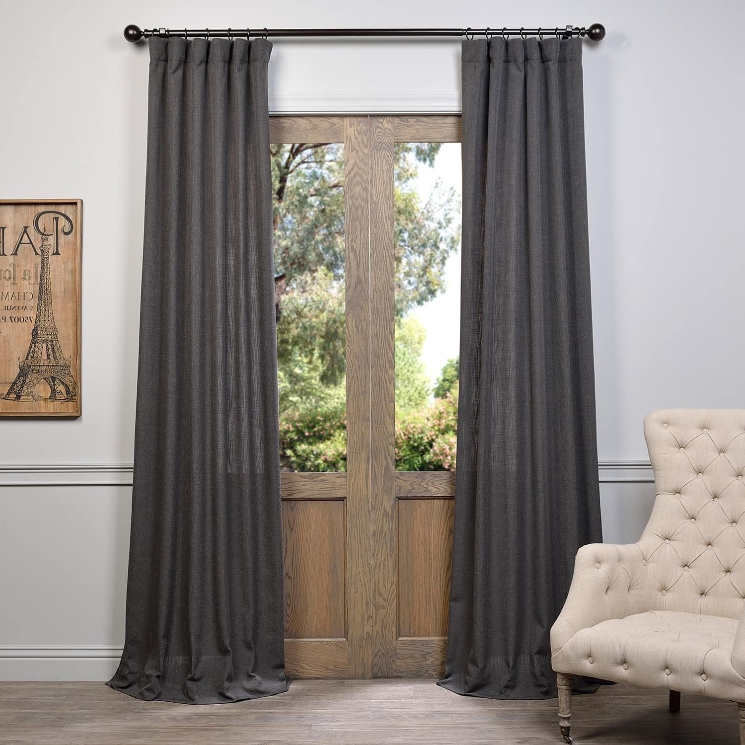 Harmony In Most Recently Released Heavy Faux Linen Single Curtain Panels (View 10 of 20)