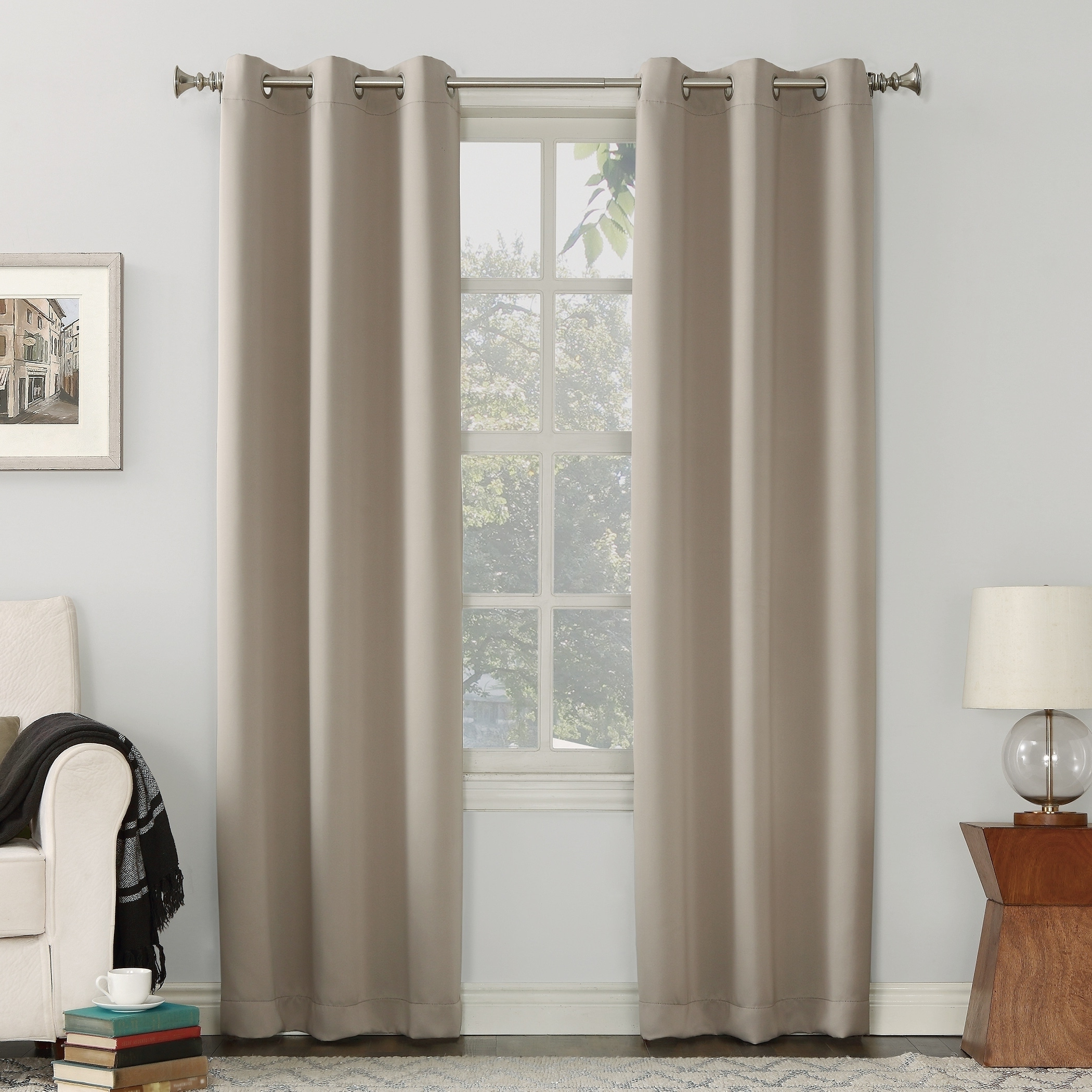 Hayden Grommet Blackout Single Curtain Panels For 2021 Sun Zero Hayden Grommet Blackout Single Curtain Panel (View 5 of 20)