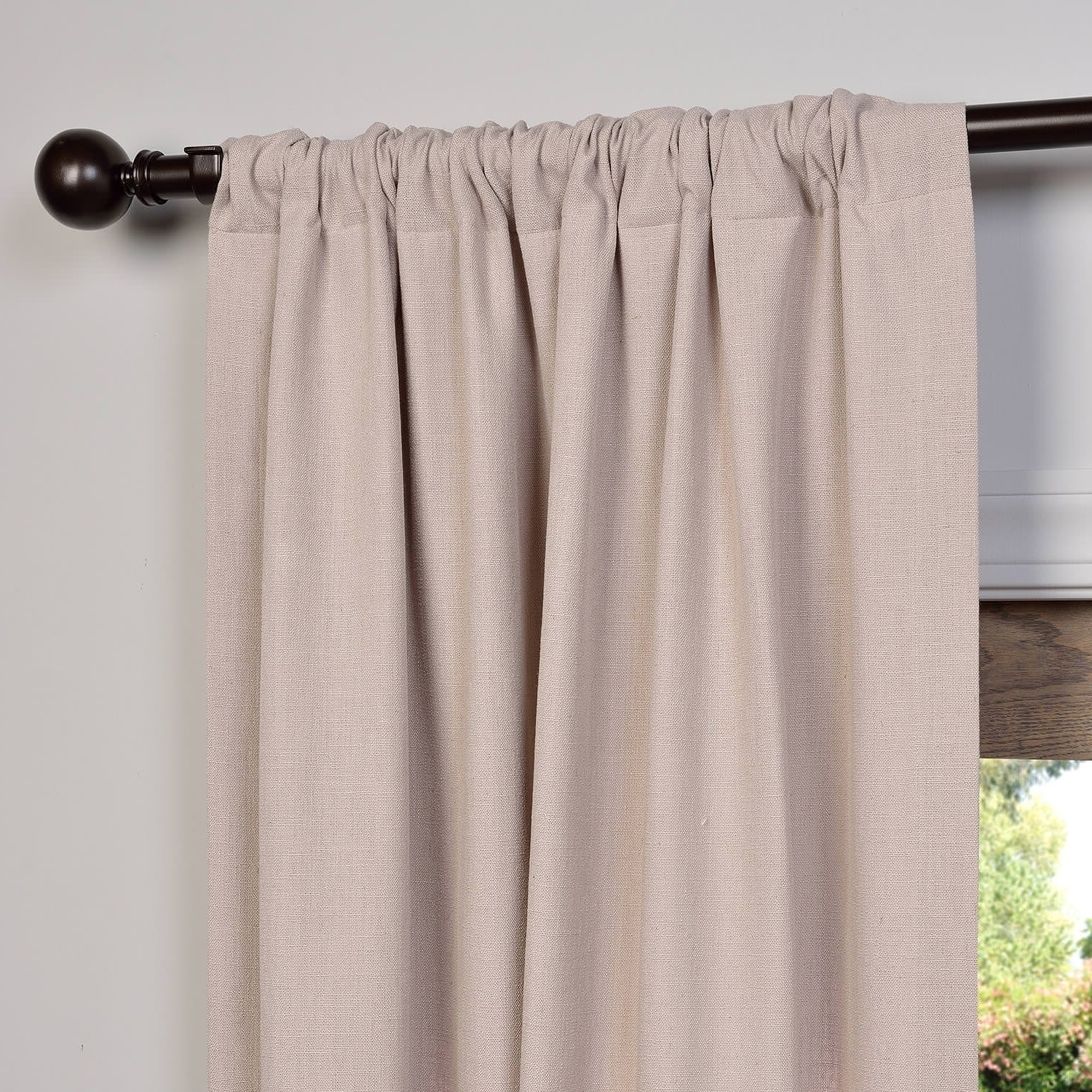 Heavy Faux Linen Single Curtain Panels With Regard To Most Recent Heavy Faux Linen Single Curtain Panel (View 1 of 20)