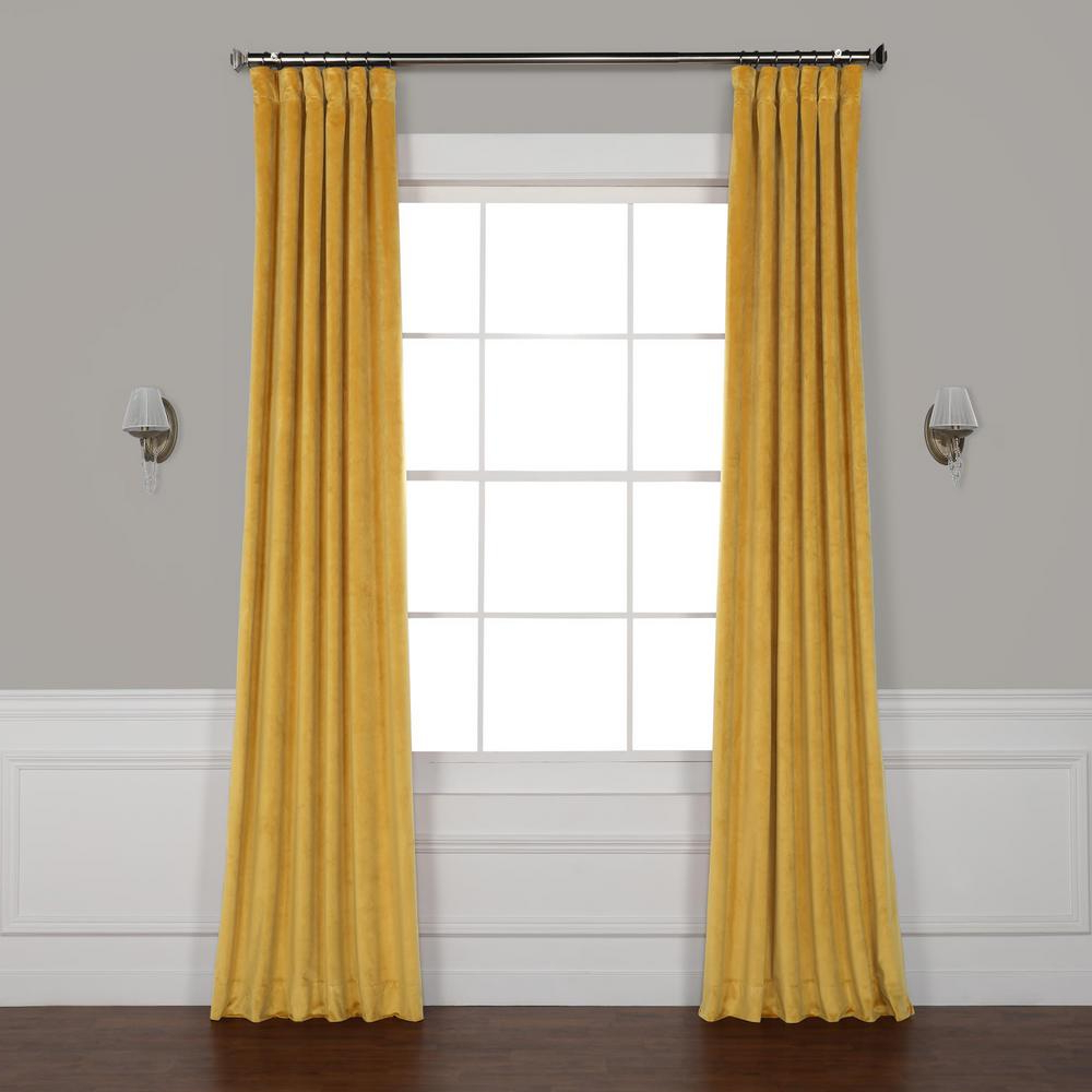 Heritage Plush Velvet Curtains For Latest Exclusive Fabrics & Furnishings Aztec Gold Heritage Plush Velvet Curtain –  50 In. W X 120 In (View 10 of 20)
