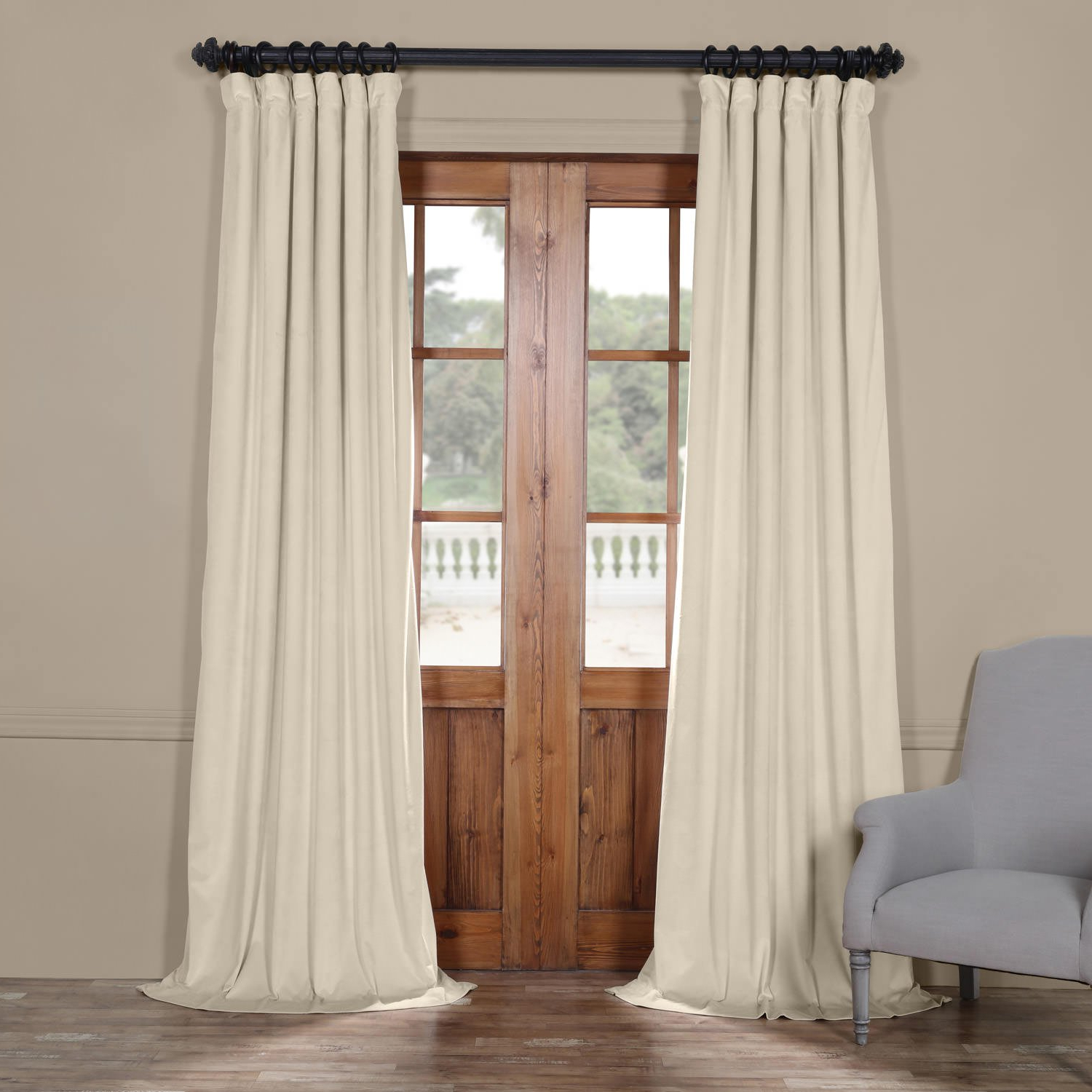 Heritage Plush Velvet Curtains Intended For Well Liked Half Price Drapes Vpyc 161204 108 Heritage Plush Velvet Curtain, 50 X 108,  Vanilla (Gallery 10 of 20)