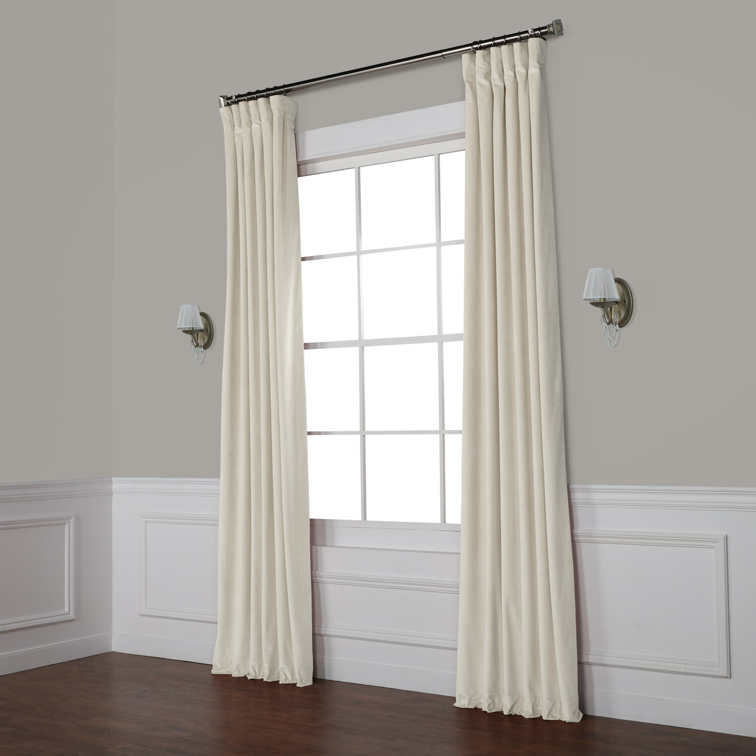 Heritage Plush Velvet Curtains Pertaining To Widely Used Livia Riverton Solid Heritage Plush Velvet Rod Pocket Single Curtain Panel (Gallery 20 of 20)