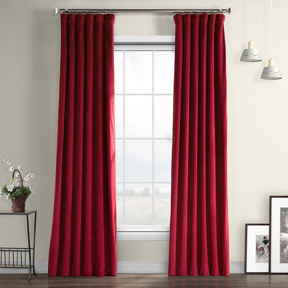 Heritage Plush Velvet Curtains With Newest Exclusive Fabrics & Furnishings Cinema Red Heritage Plush Velvet Curtain –  50 In. W X 108 In (View 14 of 20)