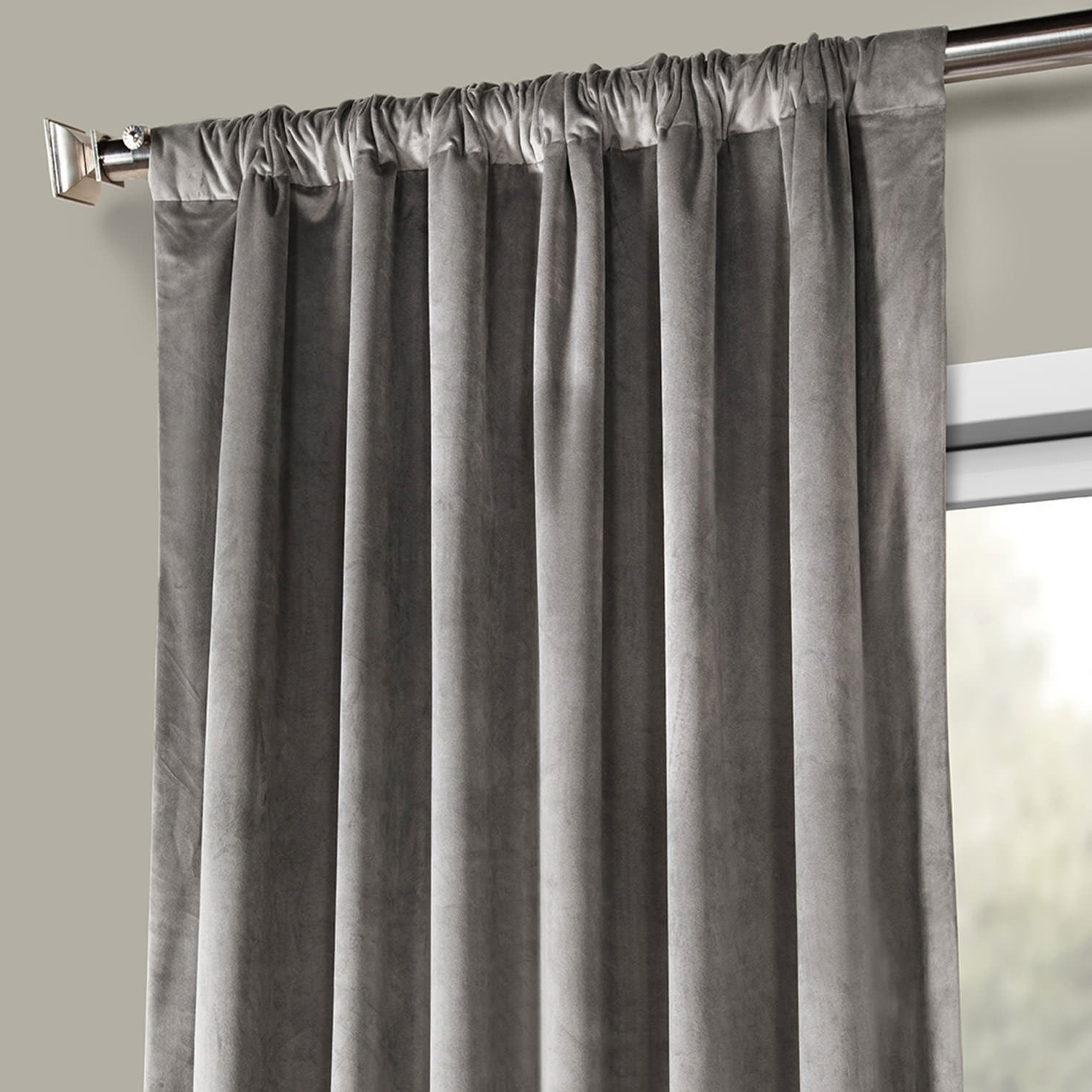 Heritage Plush Velvet Single Curtain Panels With Regard To Best And Newest Exclusive Fabrics Heritage Plush Velvet Single Curtain Panel (Gallery 9 of 20)
