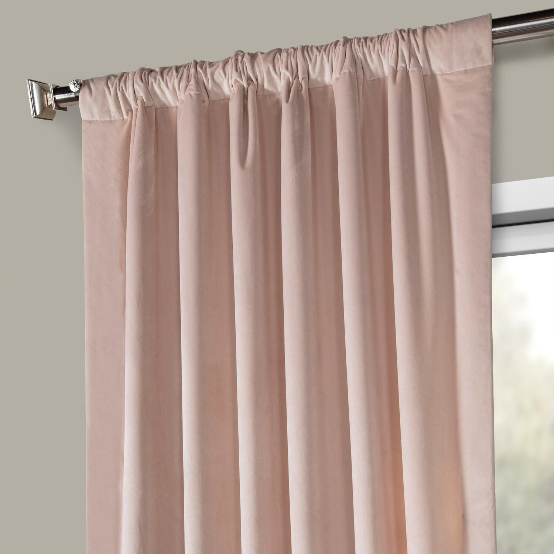 Heritage Plush Velvet Single Curtain Panels With Regard To Favorite Heritage Plush Velvet Curtain (Sold Per Panel) (View 14 of 20)
