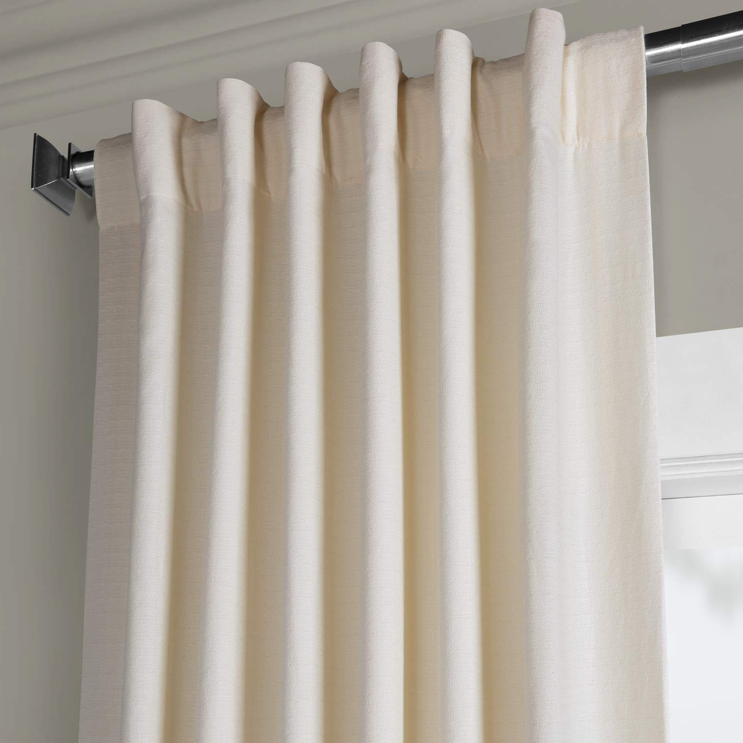Hpd Half Price Drapes Bark Weave Solid Cotton Curtain, Pale Ivory (ivory) Pertaining To Fashionable Bark Weave Solid Cotton Curtains (View 16 of 20)