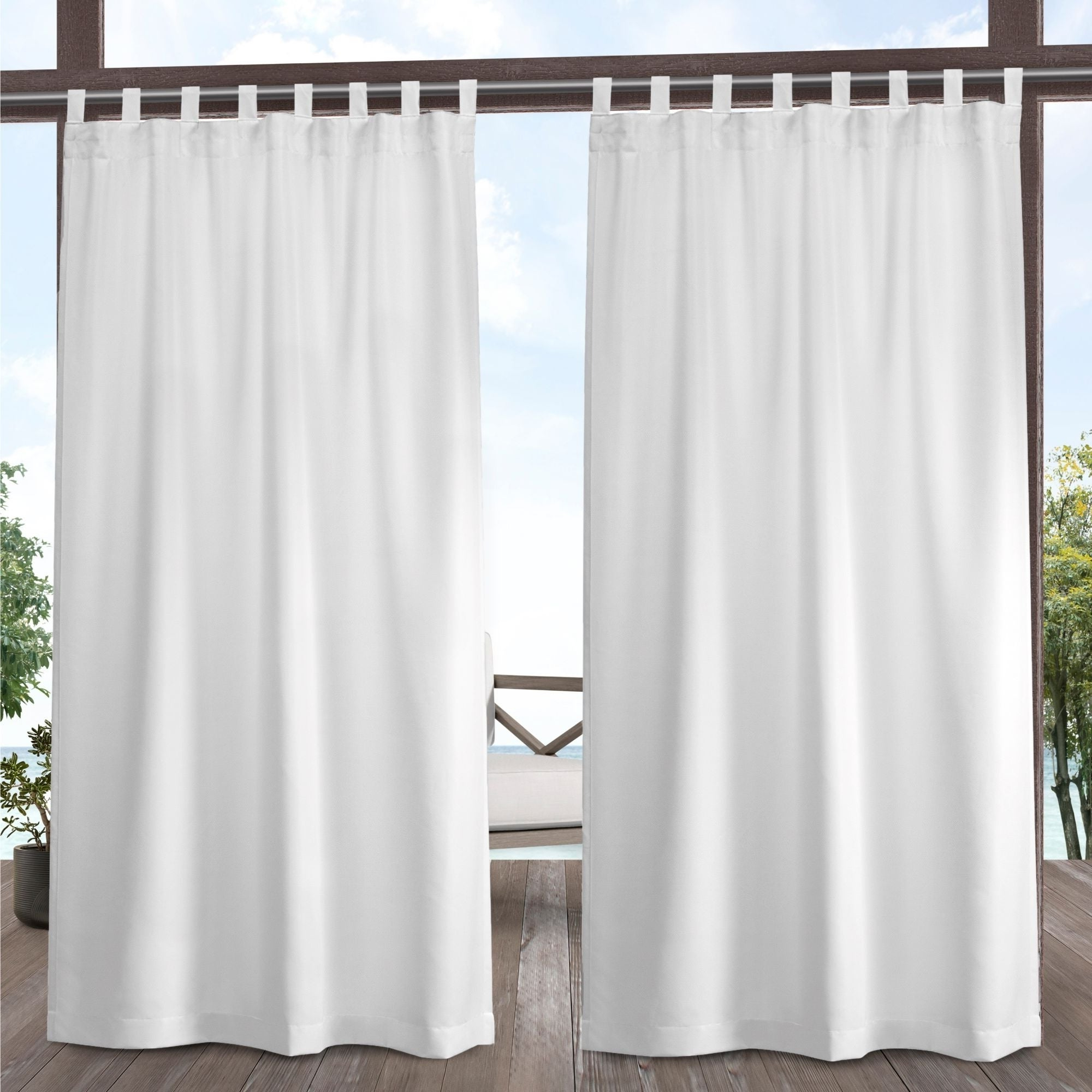 Indoor/outdoor Solid Cabana Grommet Top Curtain Panel Pairs With Regard To Trendy Ati Home Indoor/outdoor Solid Cabana Tab Top Window Curtain Panel Pair (View 10 of 20)