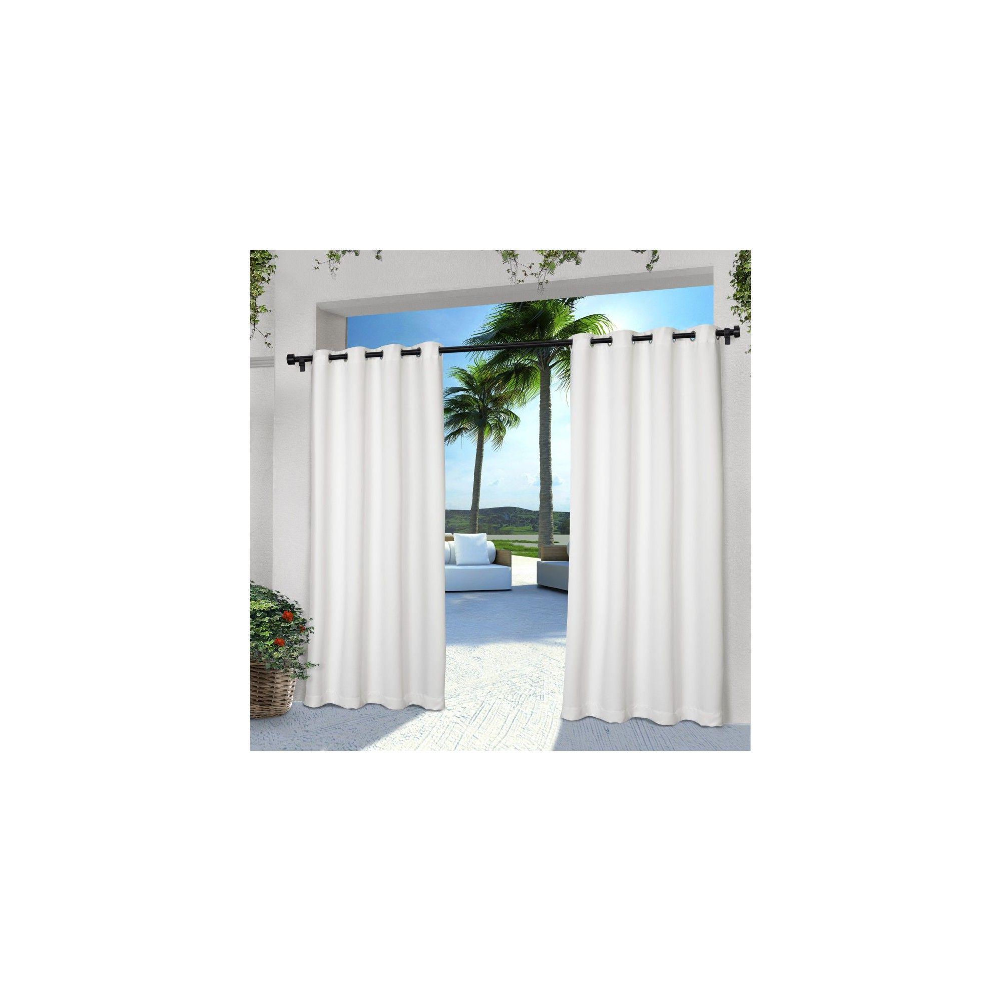 Indoor/outdoor Solid Cabana Grommet Top Window Curtain Panel Regarding 2020 Indoor/outdoor Solid Cabana Grommet Top Curtain Panel Pairs (View 15 of 20)