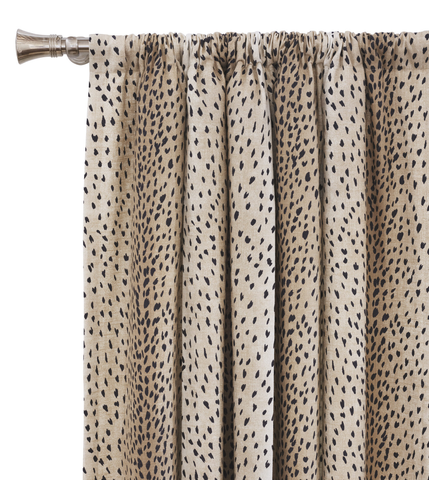 Inez Patio Door Window Curtain Panels In Best And Newest Eastern Accents Inès Spotted Animal Print Room Darkening Rod (View 13 of 20)