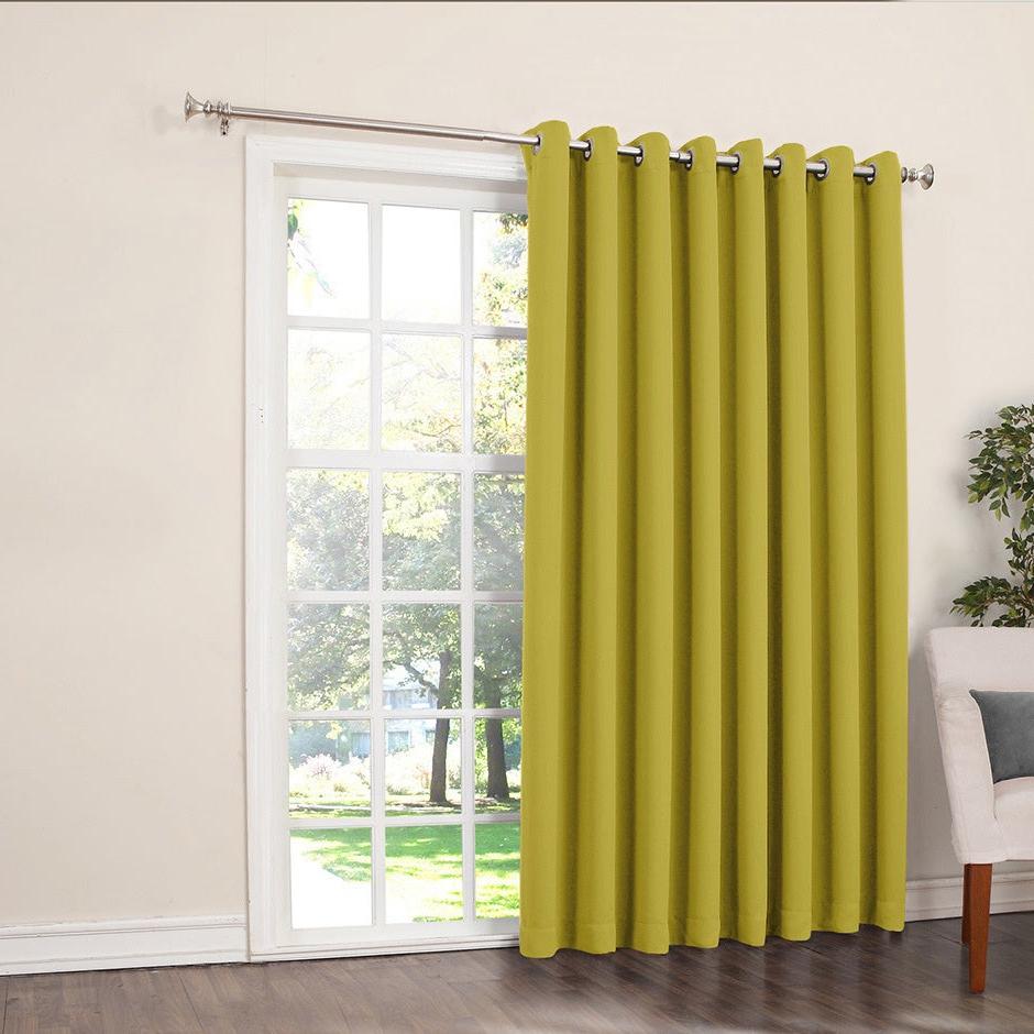 Inez Patio Door Window Curtain Panels With Well Liked Details About Porch & Den Nantahala Rod Pocket Room Darkening Patio Door (View 9 of 20)