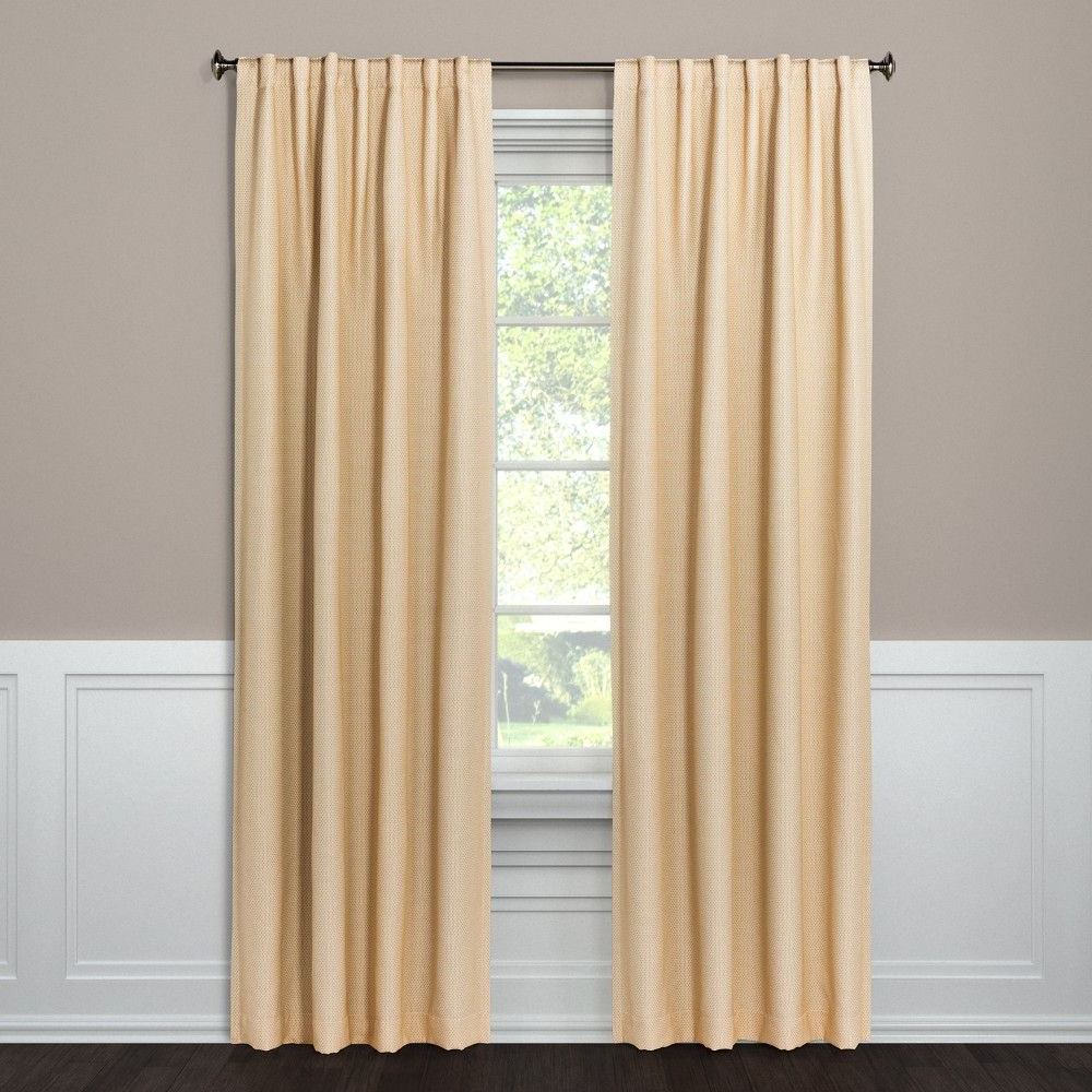Inez Patio Door Window Curtain Panels Within Favorite Tie Your Decor Together With This Small Check Curtain Panel (View 19 of 20)