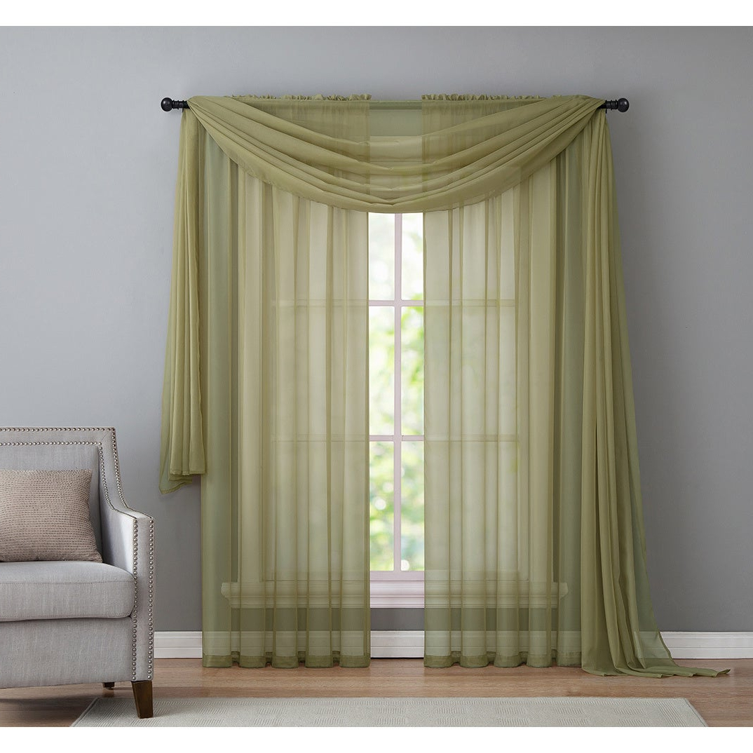 Infinity Sheer Rod Pocket Curtain Panels Regarding Most Recent Vcny Infinity Sheer Rod Pocket Curtain Panel (View 4 of 20)