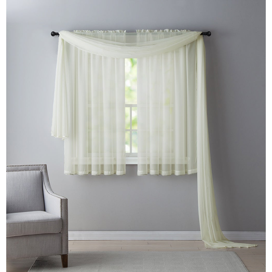 Infinity Sheer Rod Pocket Curtain Panels With Recent Vcny Infinity Sheer Rod Pocket Curtain Panel (View 2 of 20)