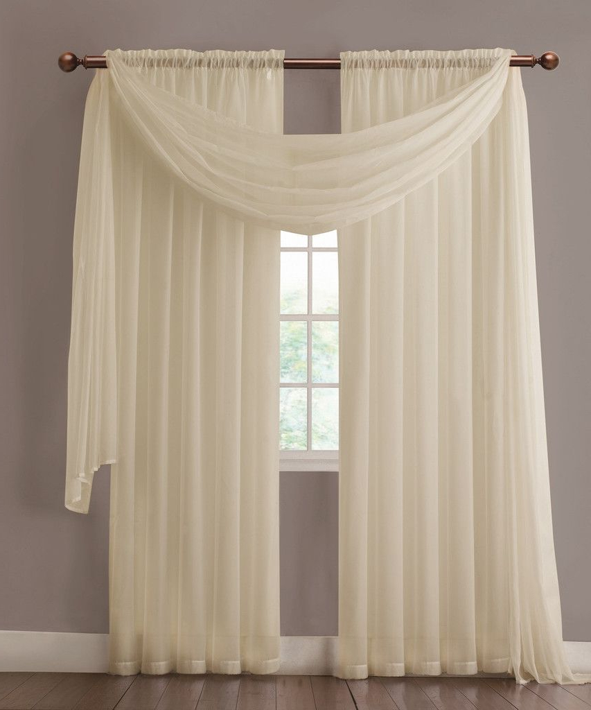 Infinity Sheer Rod Pocket Curtain Panels Within Well Known Warm Home Designs Pair Of Beige Sheer Curtains Or Extra Long (View 19 of 20)