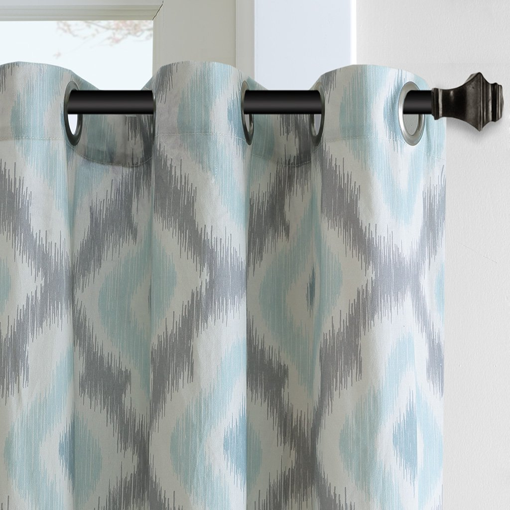 "Ink Ivy Ankara Cotton Printed Single Curtain Panels Within Well Known Ankara Window Curtain Aqua 84"" Panel, The Ink+ivy Ankara Cotton Printed Panel Can Update Your Windows With A Refreshing Touch Of Color And Pattern (View 12 of 22)"
