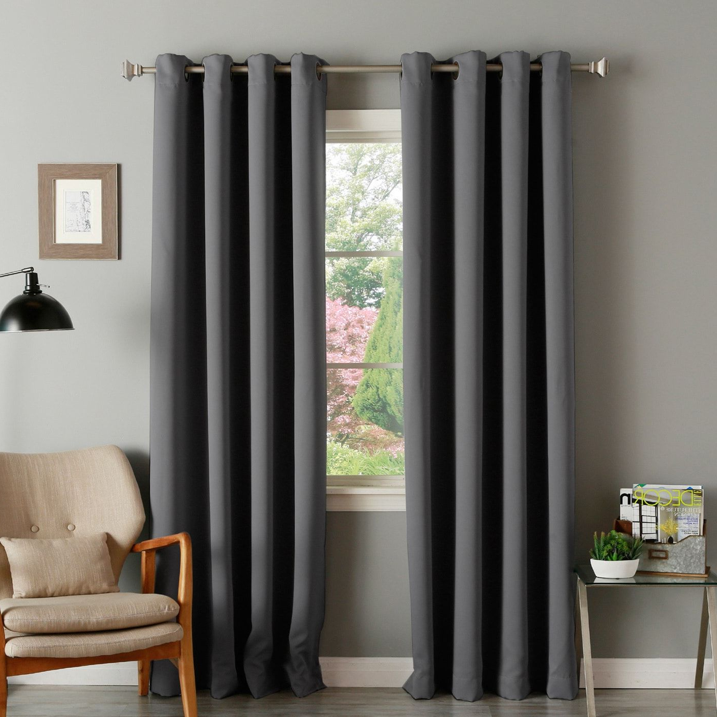 Insulated Blackout Grommet Window Curtain Panel Pairs For Current Aurora Home Thermal Insulated Blackout Grommet Top 84 Inch (View 8 of 20)