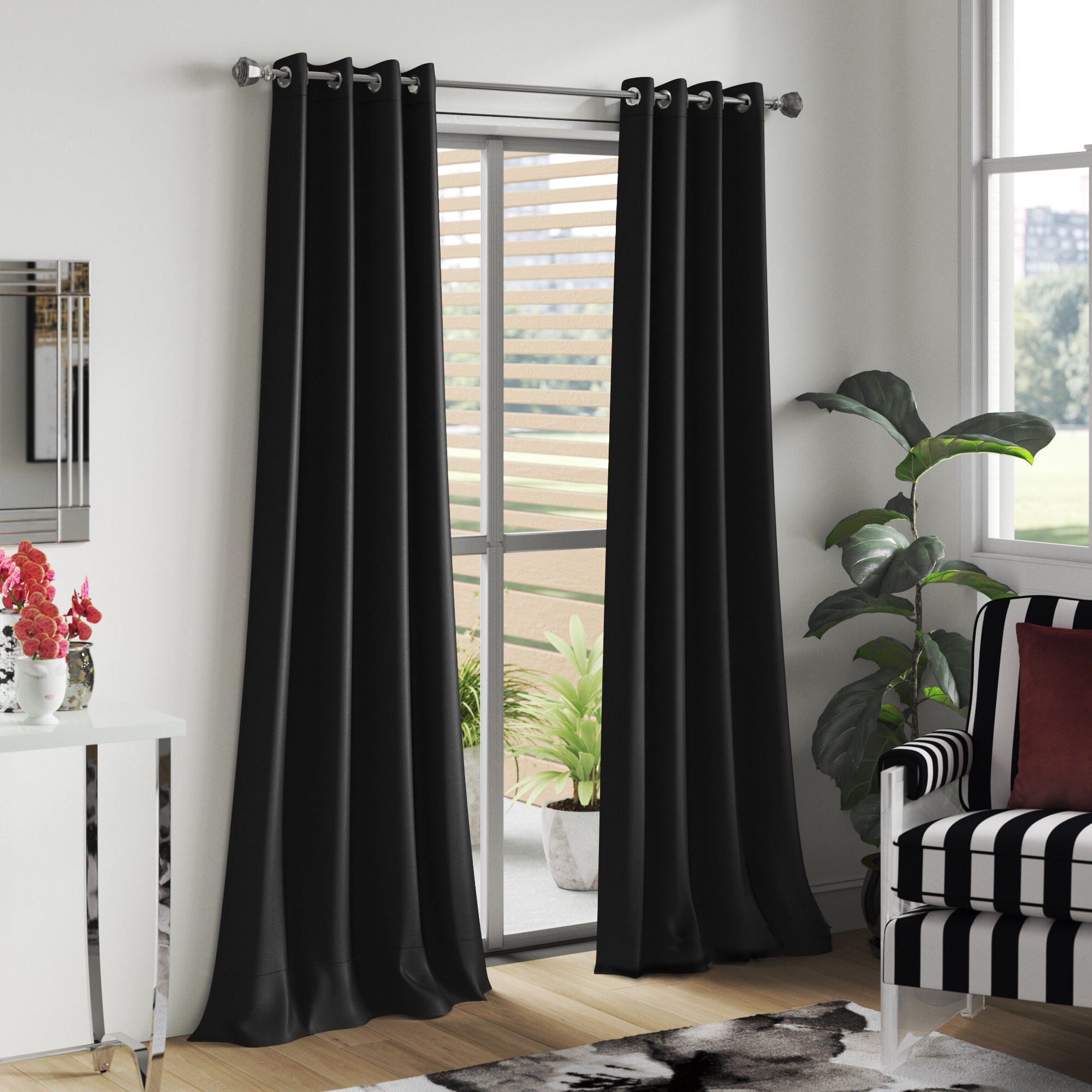 Insulated Blackout Grommet Window Curtain Panel Pairs Intended For Most Recently Released Ketterman Solid Thermal Blackout Grommet Window Panel Pair (View 16 of 20)