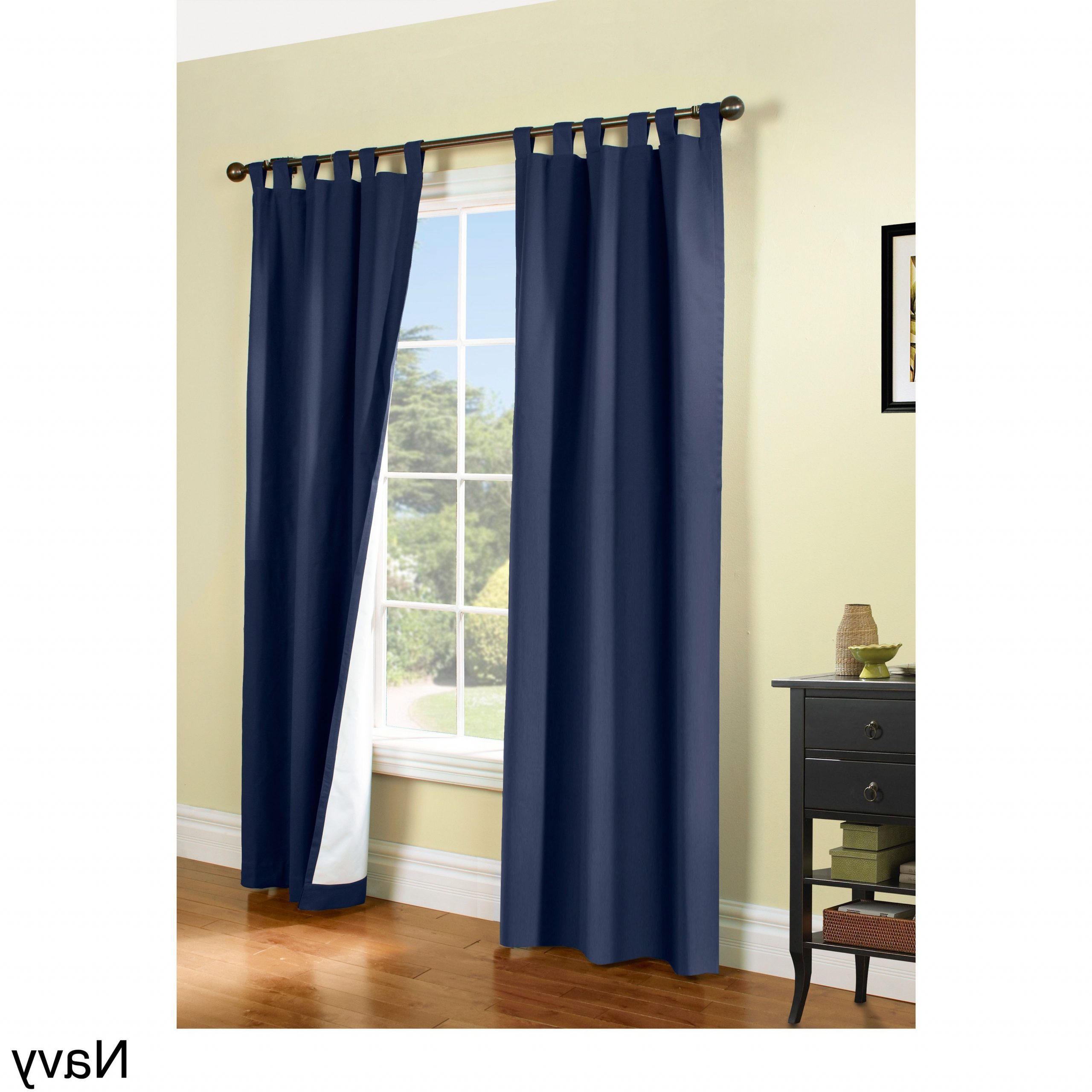 Insulated Cotton Curtain Panel Pairs Regarding Best And Newest Weathermate Insulated Cotton Curtain Panel Pair (63x80 Navy (View 3 of 20)