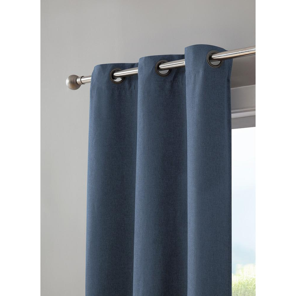 Insulated Cotton Curtain Panel Pairs Throughout Popular Bella Luna Henley Faux Linen Room Darkening 76 In. X 84 In (View 13 of 20)