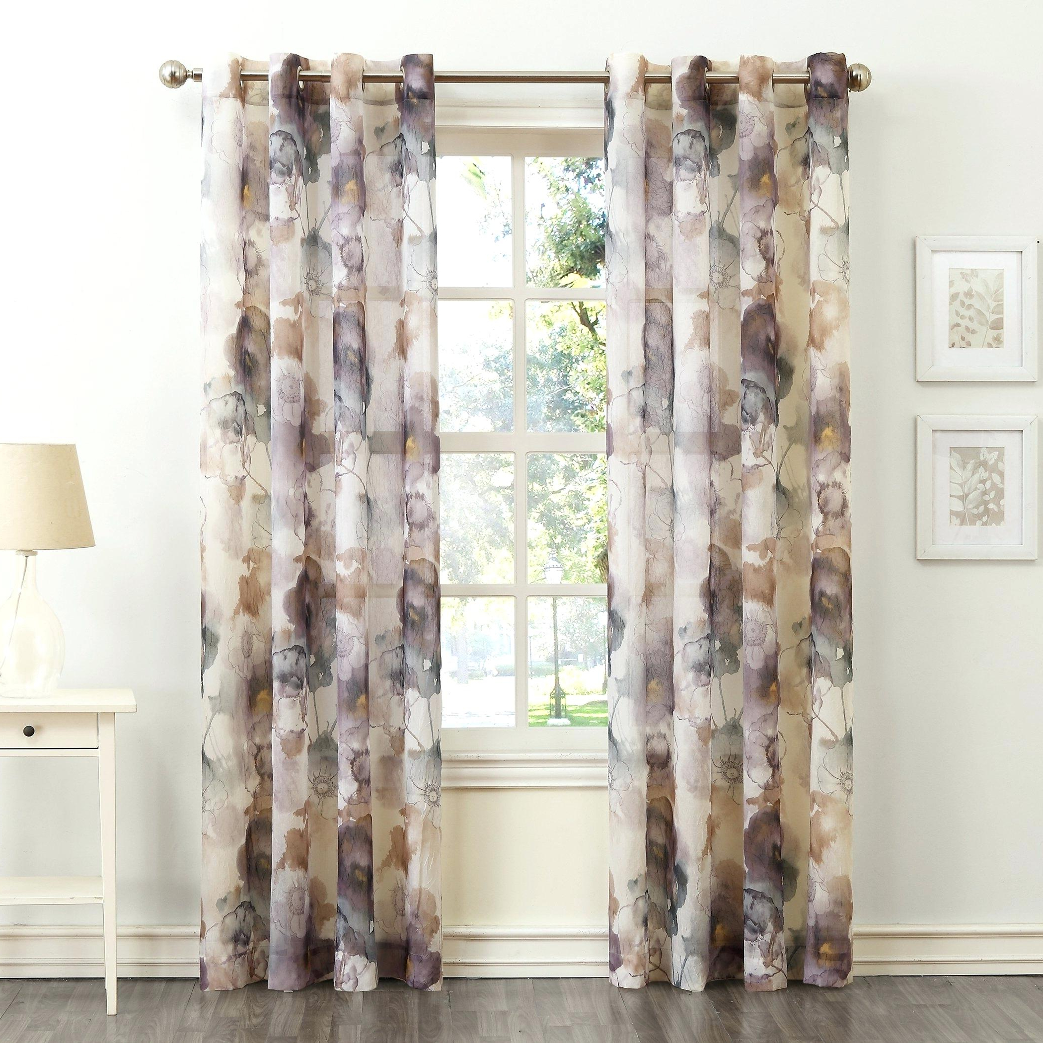 Intersect Grommet Woven Print Window Curtain Panels Regarding Favorite No 918 Curtains – Bshteam (View 14 of 20)
