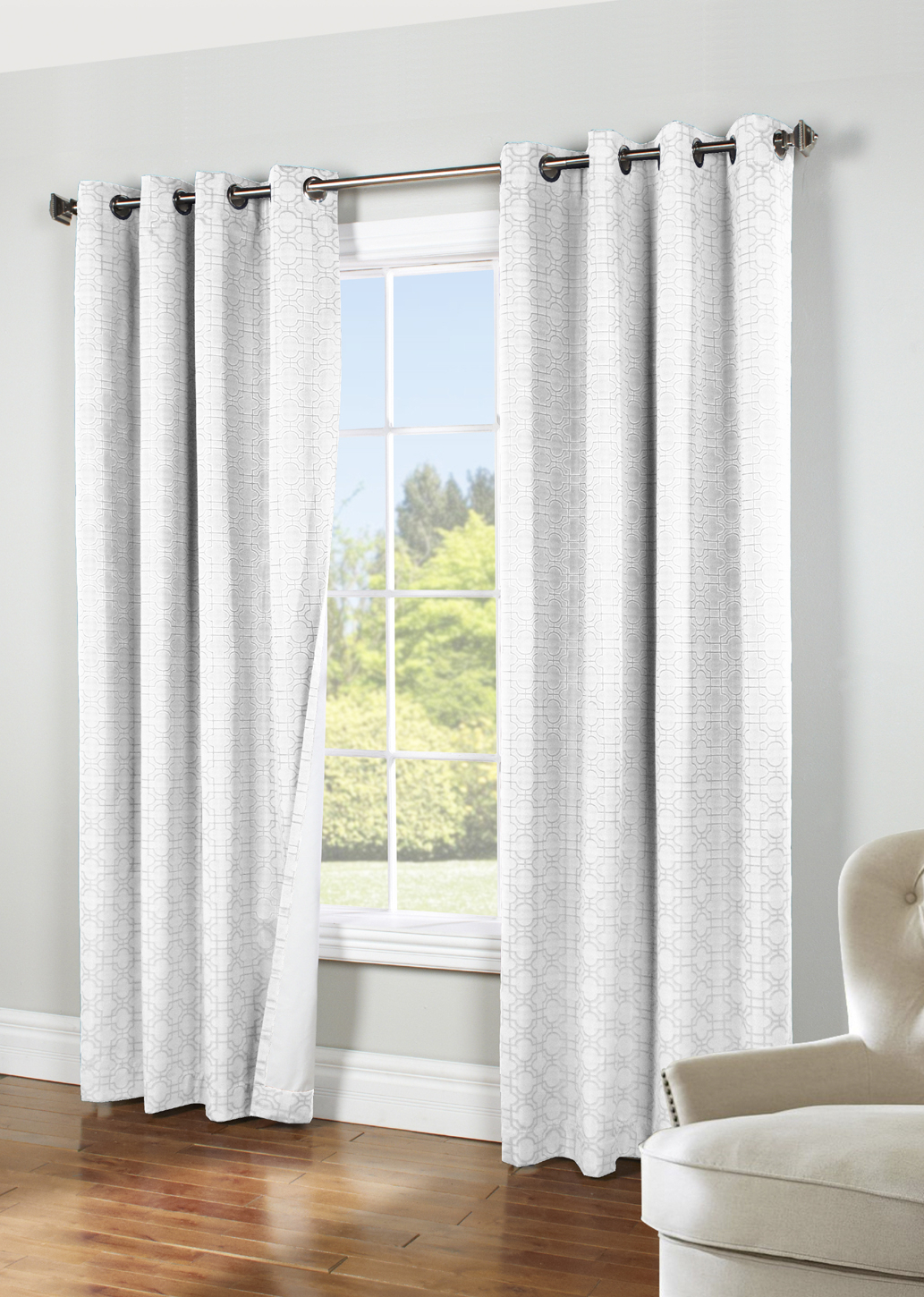 Irongate Insulated Blackout Grommet Curtain Panel – Thermaplus Throughout Fashionable Blackout Grommet Curtain Panels (View 14 of 20)