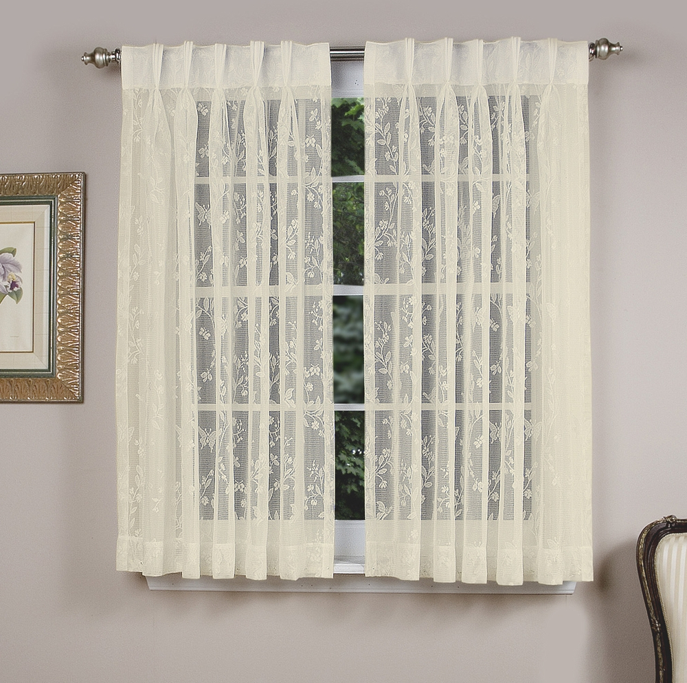 Isabella Lace Back Tab With Pinch Pleated Front Panel – Pair Regarding 2021 Double Pinch Pleat Top Curtain Panel Pairs (View 13 of 20)