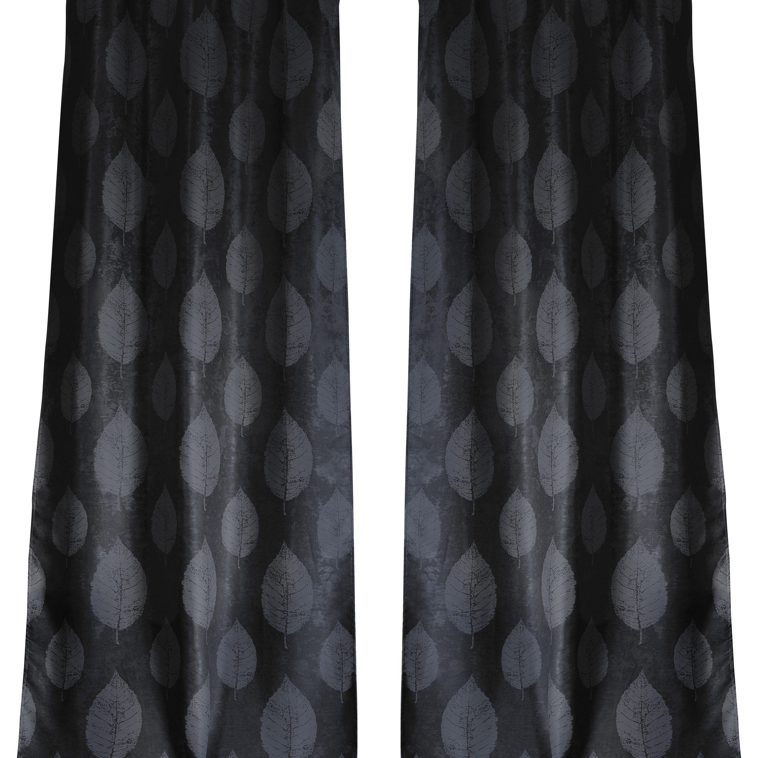 Iselin Sheila Leaf Floral/flower Blackout Grommet Curtain Panels In Well Known Overseas Leaf Swirl Embroidered Curtain Panel Pairs (View 9 of 21)