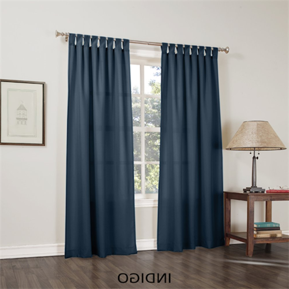 "Jacob Basic Solid Tab Top Curtain Panel, Glacier 40""wx 84""l Intended For Current Jacob Tab Top Single Curtain Panels (View 20 of 20)"