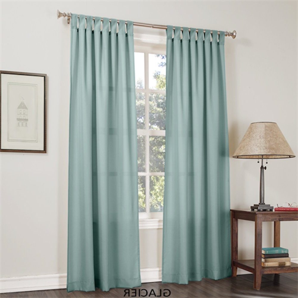 "Jacob Basic Solid Tab Top Curtain Panel, Glacier 40""wx 84""l Pertaining To Newest Jacob Tab Top Single Curtain Panels (Gallery 15 of 20)"