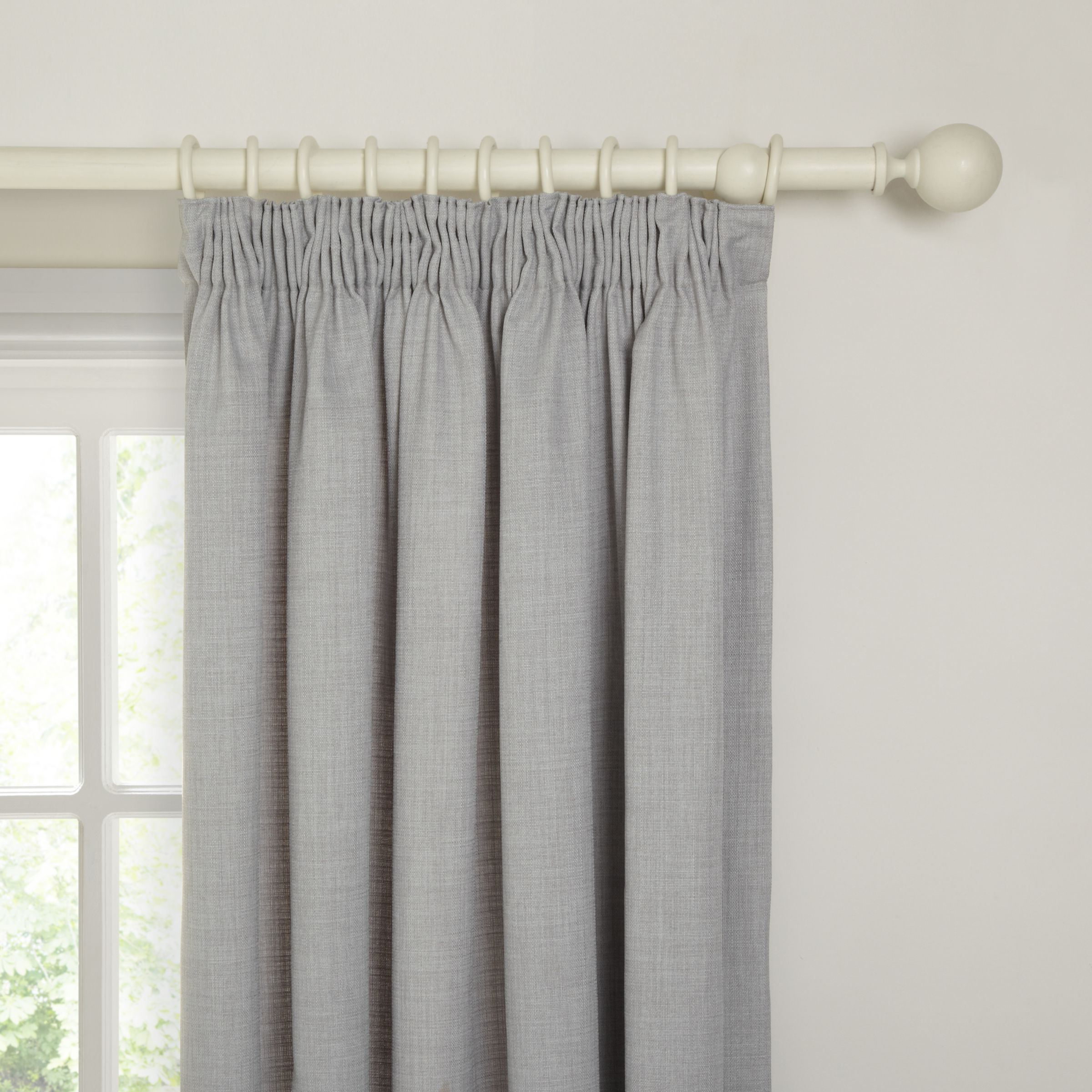 John Lewis & Partners Barathea Pair Blackout Lined Pencil In Well Known The Gray Barn Kind Koala Curtain Panel Pairs (View 17 of 20)