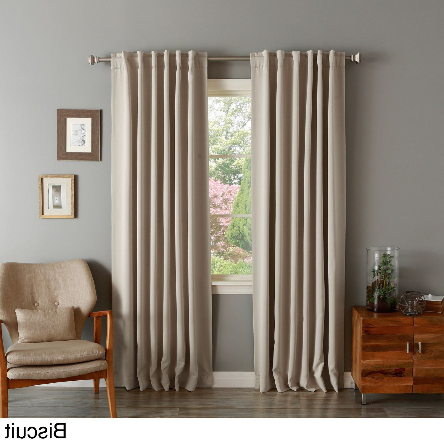 Julia Striped Room Darkening Window Curtain Panel Pairs Pertaining To Famous Solid Insulated Thermal Blackout Curtain Panel Pair In 2019 (Gallery 9 of 20)