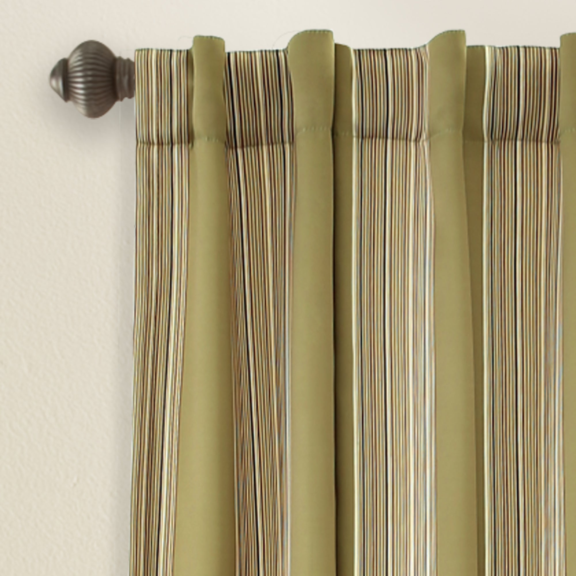 "Julia Striped Room Darkening Window Curtain Panel Pairs Regarding 2020 Lush Decor Julia Striped Room Darkening Window Curtain Panel Pair – 52""w X 84""l (Gallery 3 of 20)"