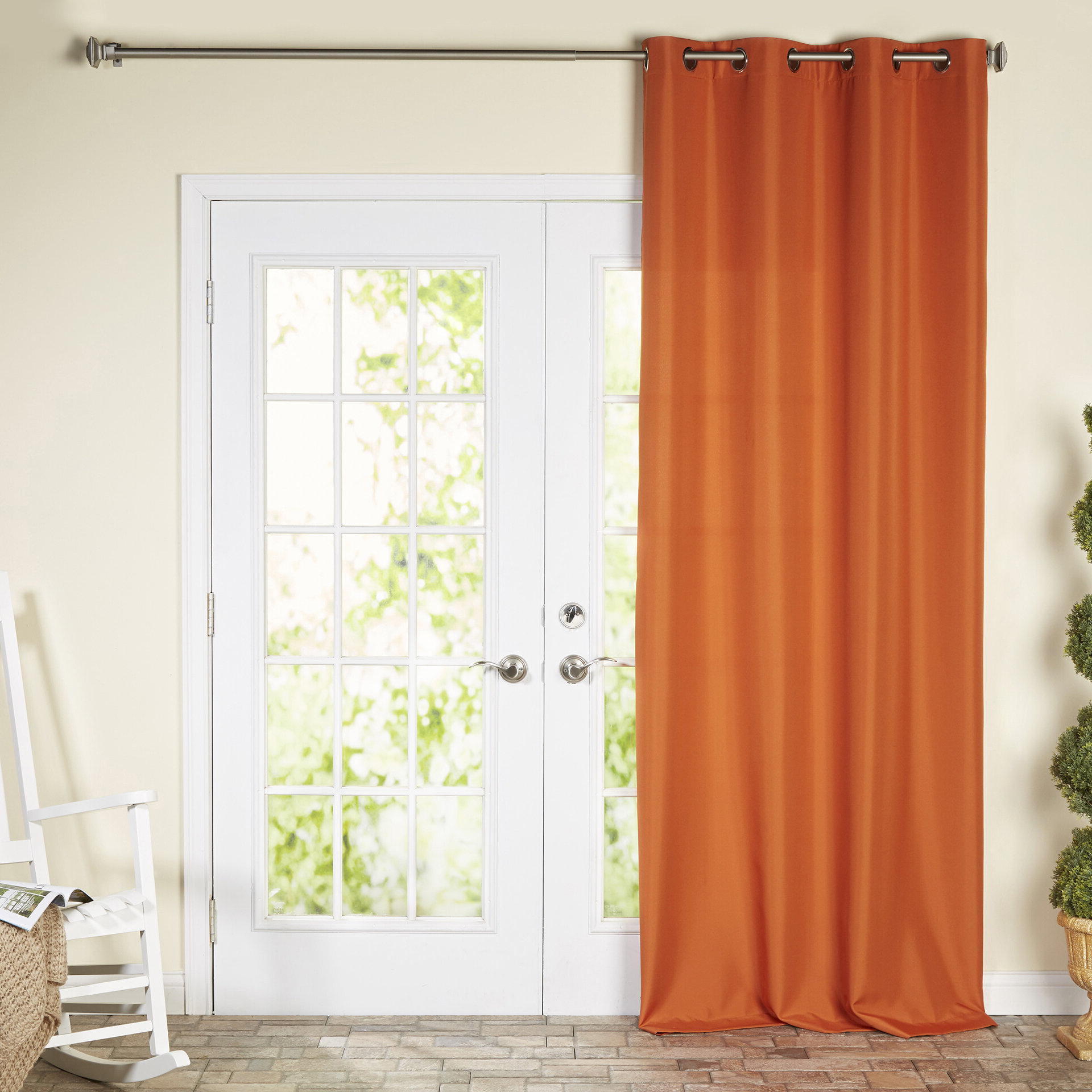 Kaylee Solid Crushed Sheer Window Curtain Pairs For Most Current Beachcrest Home Ponce De Leon Solid Color Room Darkening (Gallery 13 of 20)