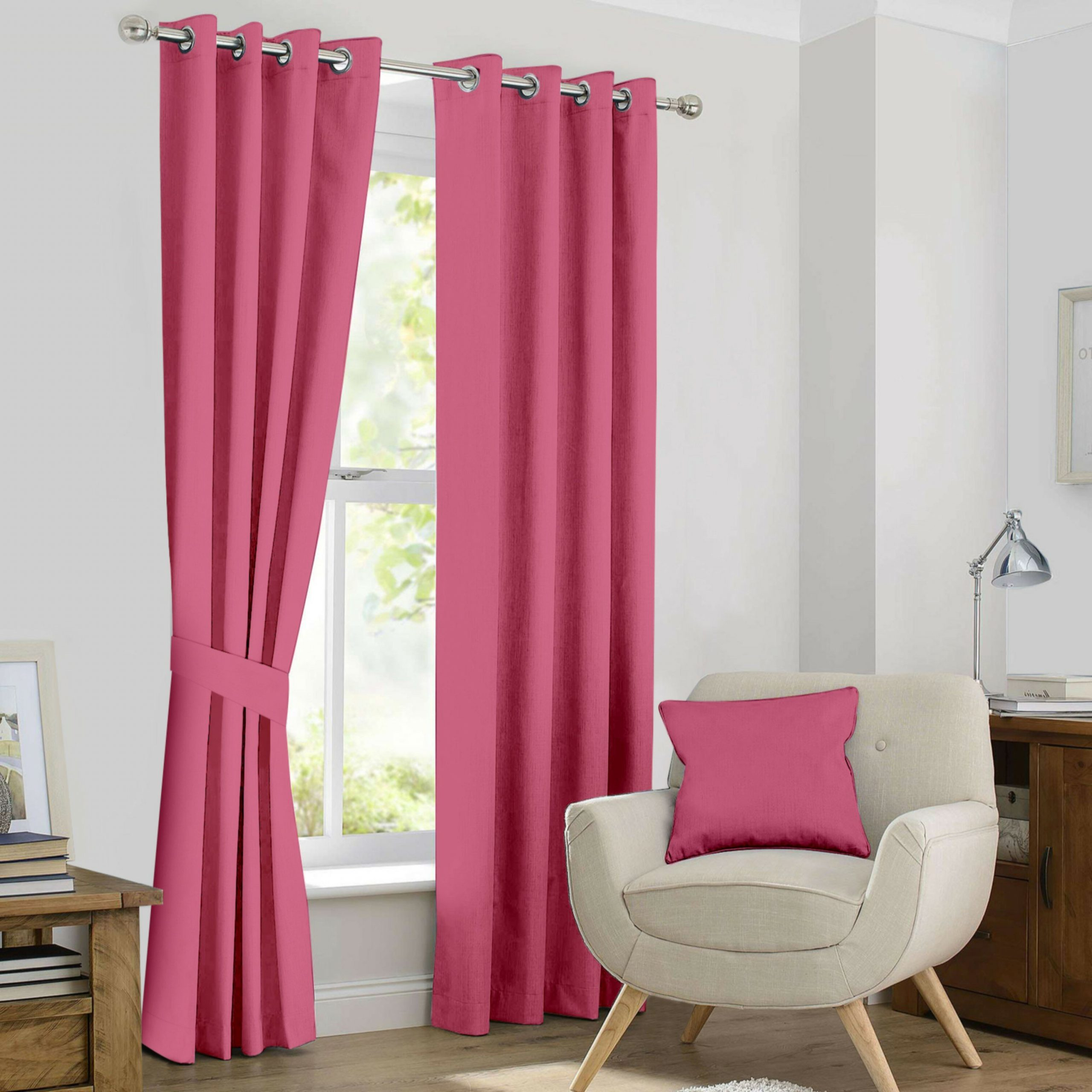Kaylee Solid Crushed Sheer Window Curtain Pairs Pertaining To Newest Kaylee Solid Blackout Thermal Grommet Curtain Panels (View 16 of 20)