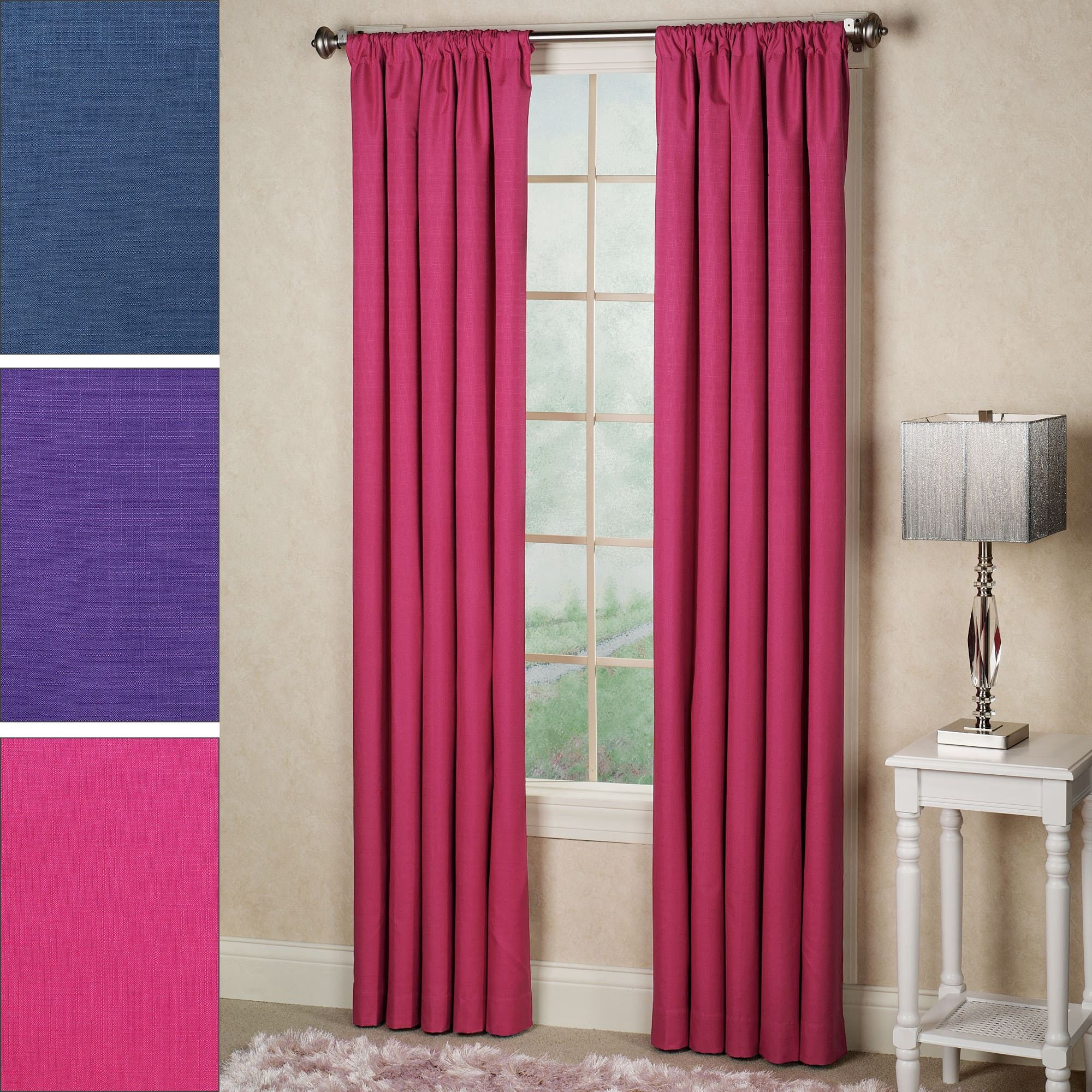 Kendall Bright Thermaback(tm) Blackout Curtain Panel Within Most Current Thermaback Blackout Window Curtains (View 8 of 20)