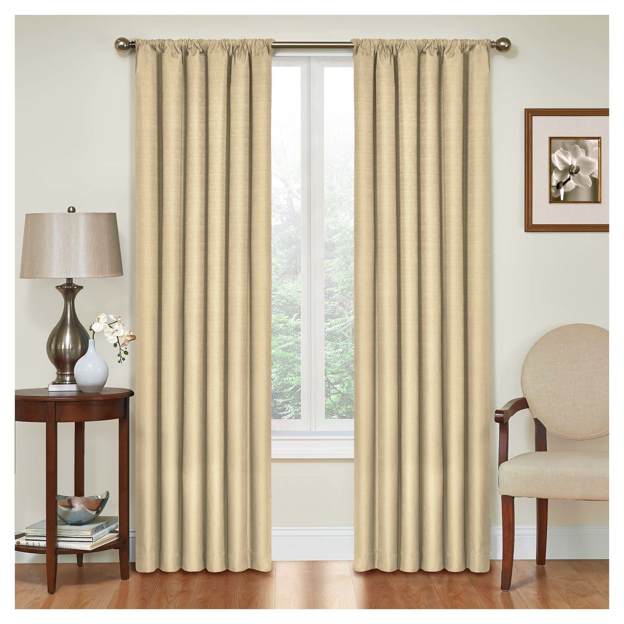 "Kendall Thermaback Blackout Curtain Panel Tan (42""x95 In Well Known Thermaback Blackout Window Curtains (View 13 of 20)"