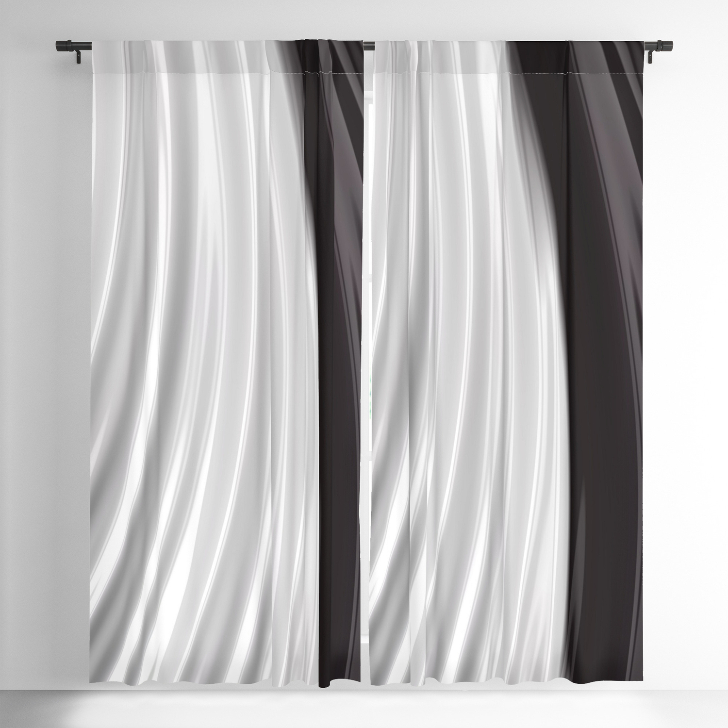 Keyes Blackout Single Curtain Panels Intended For Current Piano Keys Blackout Curtainlindamillar (Gallery 7 of 20)