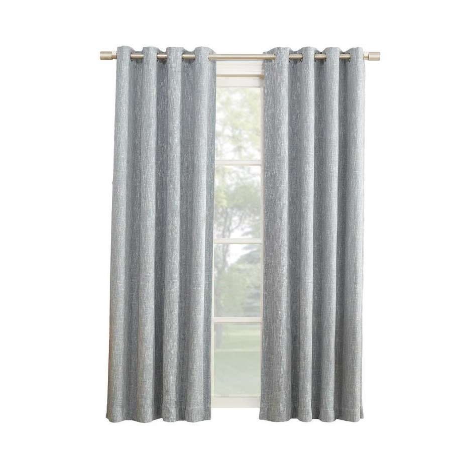 Keyes Blackout Single Curtain Panels Throughout Most Up To Date Pierston 84 In Dusty Blue Polyester Blackout Thermal Lined Single Curtain Panel (View 10 of 20)