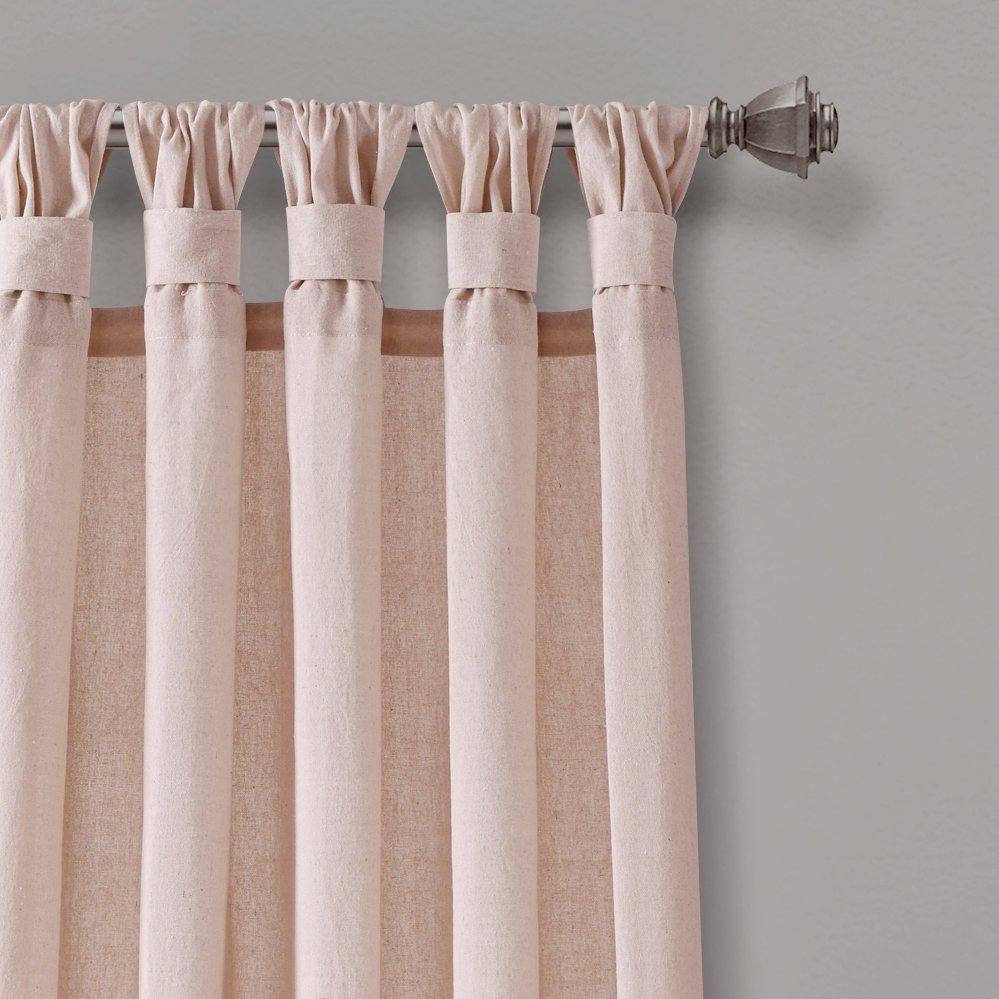 Knotted Tab Top Window Curtain Panel Pairs Throughout Recent Porch & Den Alsea Burlap Knotted Tab Top Window Curtain Panel Pair (Gallery 4 of 20)
