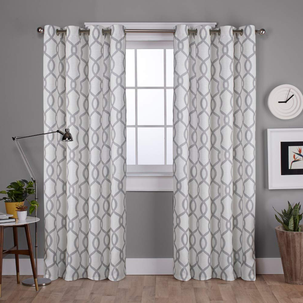 Kochi Linen Blend Window Grommet Top Curtain Panel Pairs For Current Exclusive Home Curtains Kochi Linen Blend Window Curtain Panel Pair With Grommet Top, 54x96, Dove Grey, 2 Piece (View 2 of 20)
