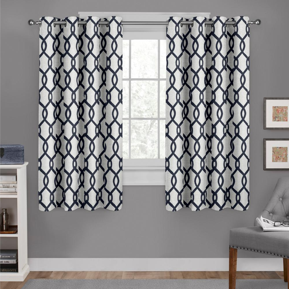 Kochi Linen Blend Window Grommet Top Curtain Panel Pairs Within Most Current Kochi 54 In. W X 63 In (View 4 of 20)