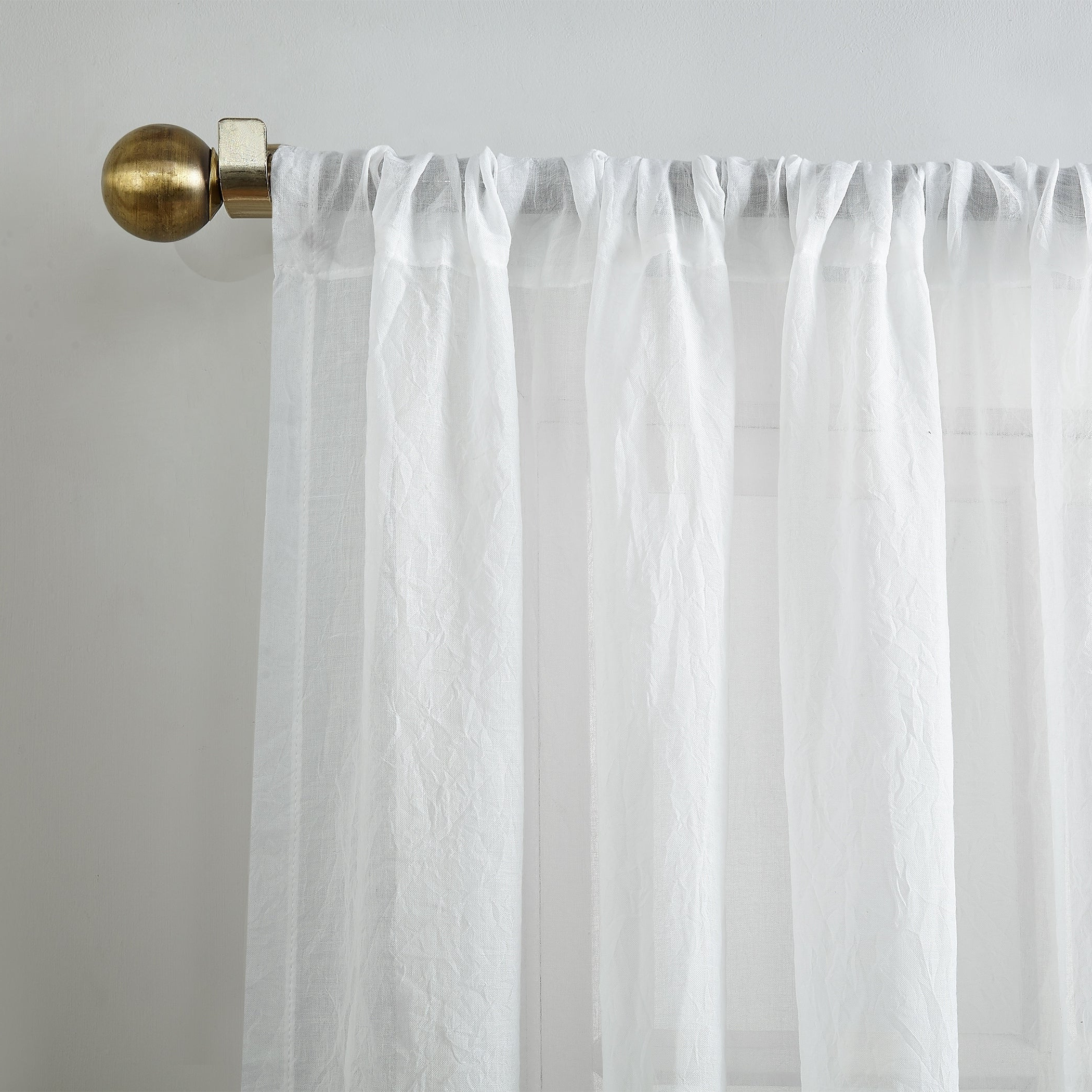 Ladonna Rod Pocket Solid Semi Sheer Window Curtain Panels Inside Most Recent No (View 6 of 20)