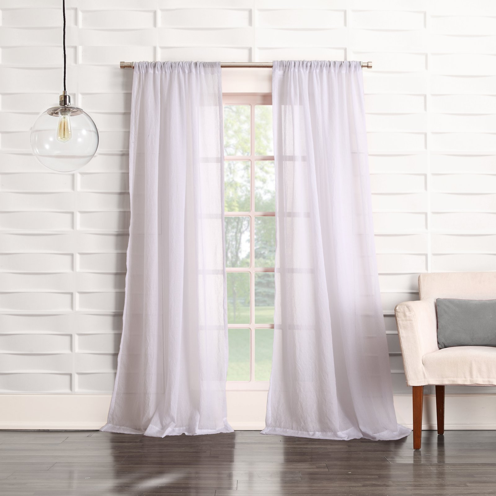 Ladonna Rod Pocket Solid Semi Sheer Window Curtain Panels Regarding 2020 No. 918 Ladonna Rod Pocket Curtain Panel White In 2019 (Gallery 11 of 20)