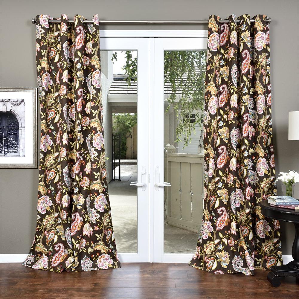 Lambrequin Boho Paisley Cotton Curtain Panel For Trendy Lambrequin Boho Paisley Cotton Curtain Panels (View 2 of 20)