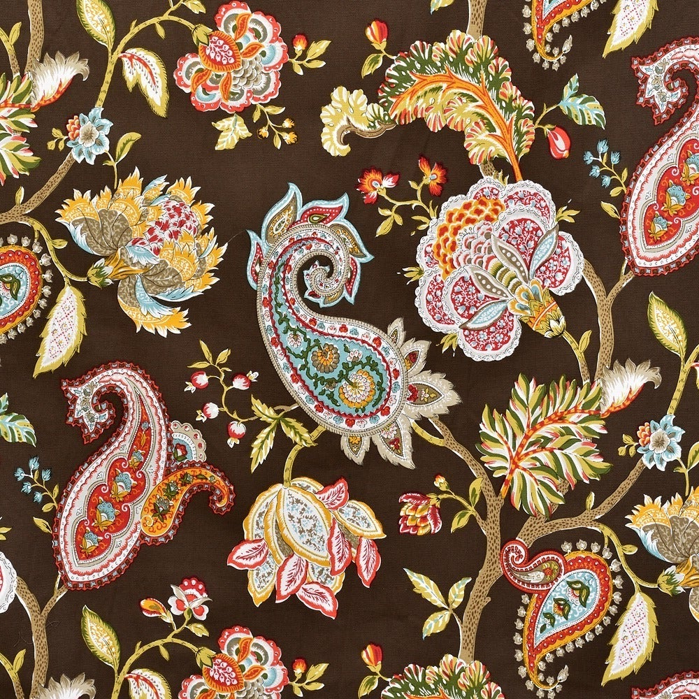 Lambrequin Boho Paisley Cotton Curtain Panels In Popular Lambrequin Boho Paisley Cotton Curtain Panel (View 6 of 20)