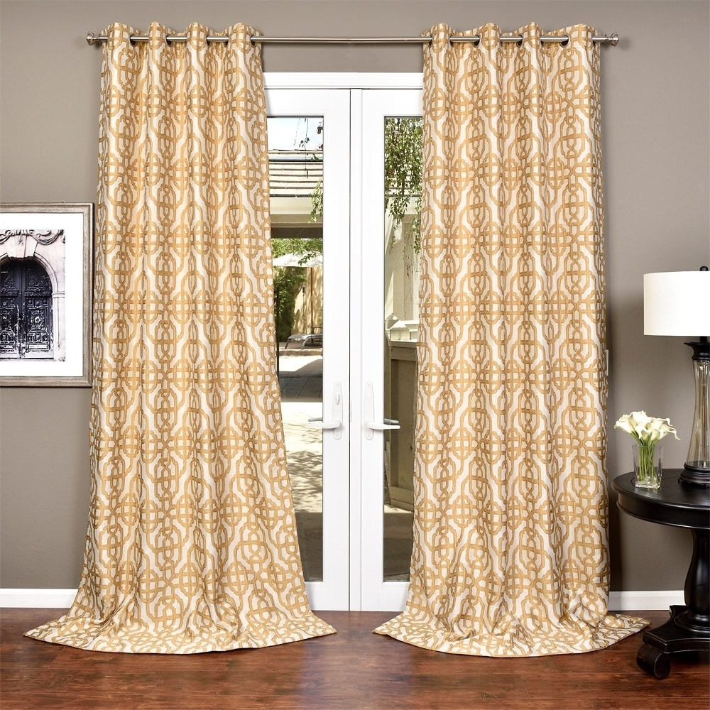 Lambrequin Boho Paisley Cotton Curtain Panels In Recent Lambrequin Gala Crushed Faux Jacquard Lined Curtain Panel (View 9 of 20)