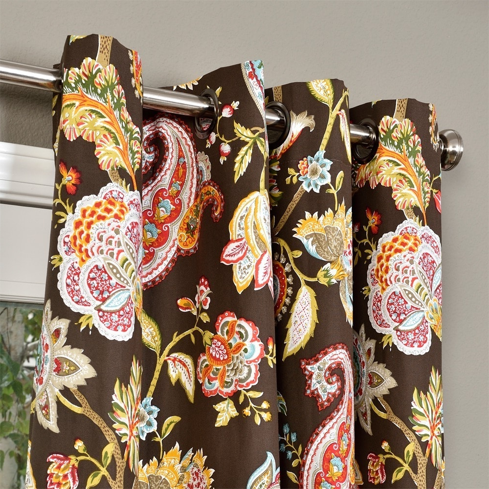 Lambrequin Boho Paisley Cotton Curtain Panels Inside 2020 Lambrequin Boho Paisley Cotton Curtain Panel (View 11 of 20)