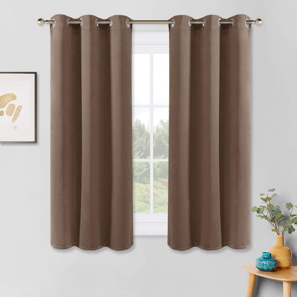 Latest All Seasons Blackout Window Curtains With Pony Dance Blackout Curtains Mocha – Thermal Insulated All Seasons Grommet  Top Curtain Drapes Heavy Duty Window Draperies Light Blocking Noise (Gallery 8 of 20)